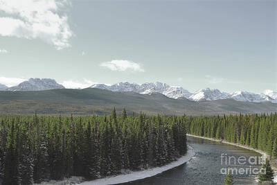 Photograph - Banff Canada Mountain River Landscape by Andrea Hazel Ihlefeld