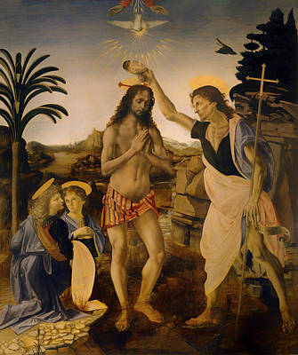Baptism Painting - Baptism Of Christ by Mountain Dreams
