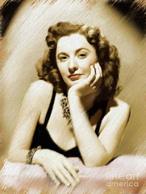 Painting - Barbara Stanwyck, Vintage Actress by Mary Bassett