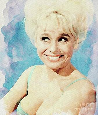 Musicians Royalty Free Images - Barbara Windsor, Carry On Actress Royalty-Free Image by John Springfield