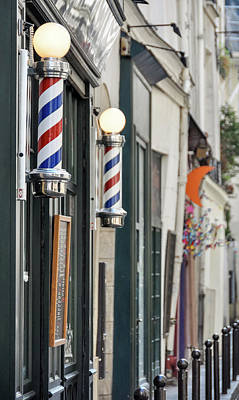 Photograph - Barber Shop Sign In Paris by Dutourdumonde Photography