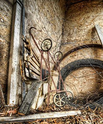 Rustic Barn Interior Photograph - Barn Decor by Wayne Sherriff