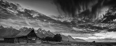 Old Photograph - Barn In The Mountains by Andrew Soundarajan