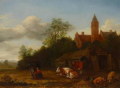Painting - Barnyard Scene by Anthonie Van Borssom