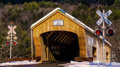 Photograph - Bartonsville Covered Bridge by Scenic Vermont Photography
