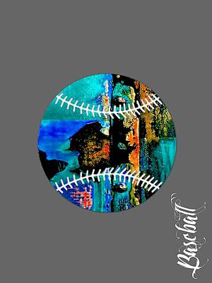 Ballgame Mixed Media - Baseball Collection by Marvin Blaine