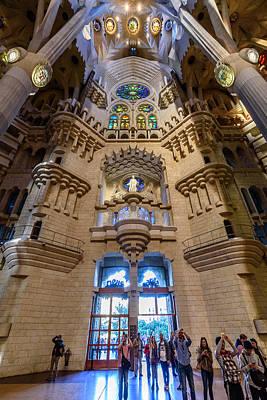 Photograph - Basilica De La Sagrada Familia by Randy Scherkenbach