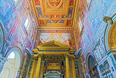 Basilica Of Saint John Lateran In Rome, Italy. Art Print by Marek Poplawski