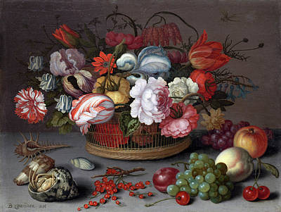 Painting - Basket Of Flowers by Balthasar van der Ast