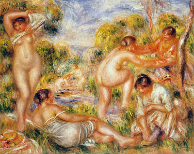 Group Painting - Bathers by Pierre-Auguste Renoir
