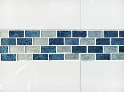 Marble Mosaic Photograph - Bathroom Tiles by Tom Gowanlock