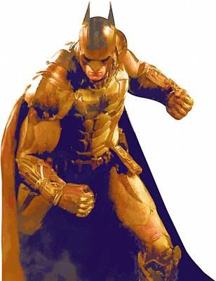 Batman Digital Art - Batman Figures Poster by Egor Vysockiy