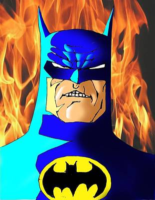 Ben Affleck Wall Art - Digital Art - Old Batman by Salman Ravish
