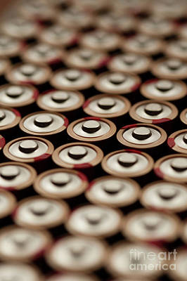 Wine Corks - Batteries in Rows Abstract by Jim Corwin