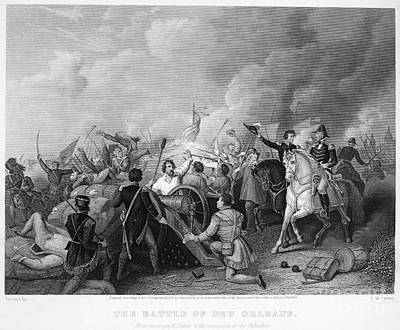 Battle Of New Orleans Art Print by Granger