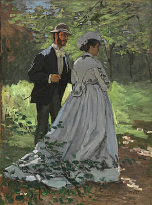 Painting -  Bazille And Camille  by Claude Monet