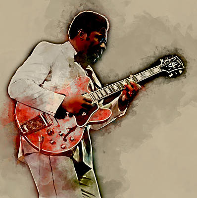 Mixed Media - Bb King by Marvin Blaine
