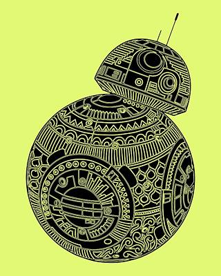 Royalty-Free and Rights-Managed Images - BB8 DROID - Star Wars Art, Brown by Studio Grafiikka