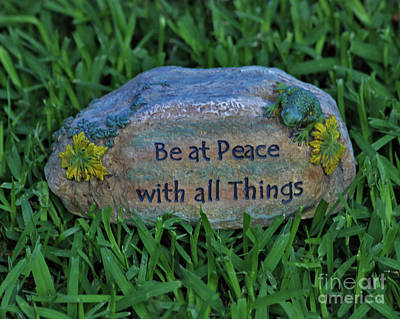 Art Print featuring the photograph 2- Be At Peace by Joseph Keane