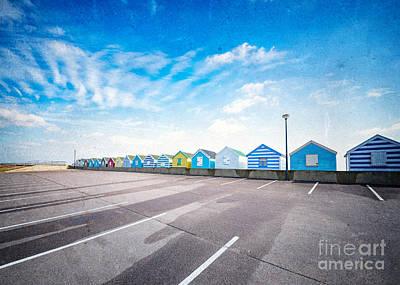Beach Landscape Mixed Media - Beach Huts by Svetlana Sewell