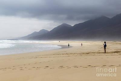 Photograph - Beach Of Cofete Fuerteventura by Pietro Ebner