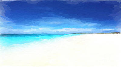 Mixed Media - Beach Retreat by Anthony Fishburne