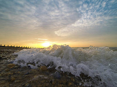 Photograph - Beach Sunrise by Will Gudgeon