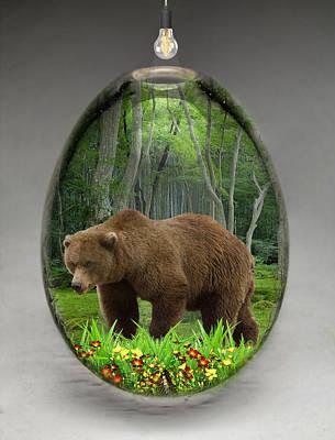 Brown Mixed Media - Bear Art by Marvin Blaine