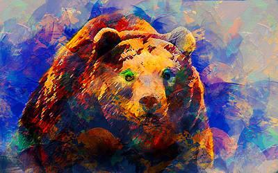 Bear Art Print by Elena Kosvincheva