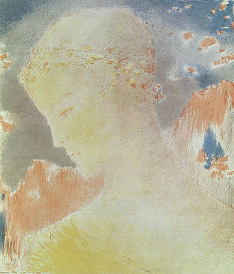 Soft Pastel Painting - Beatrice by Odilon Redon
