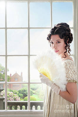 Photograph - Beautiful Regency Woman At The Window by Lee Avison