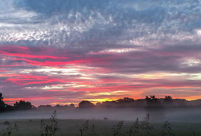 Pittsburgh According To Ron Magnes - Beautiful Sunrise Over Farmland In South Carolina by Alex Grichenko