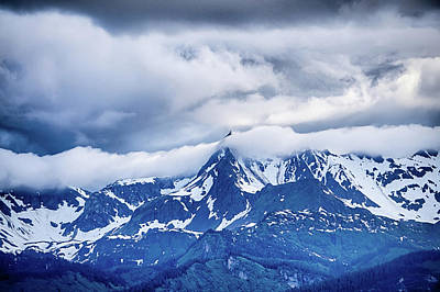 Photograph - Beautiful Sunset And Cloudsy Landscape In Alaska Mountains by Alex Grichenko
