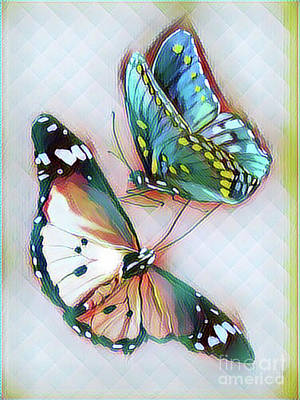 Digital Art - Beauty Of Butterflies  by Gayle Price Thomas