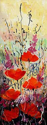 Painting -  Poppies by Samiran Sarkar