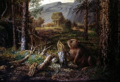 Painting - Beaver by Genio GgXpress