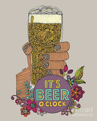 Beer Digital Art - Beer Oclock by Valentina