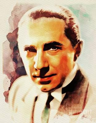 Bela Lugosi Painting - Bela Lugosi, Hollywood Legend by John Springfield