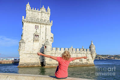 Photograph - Belem Tower Tourism by Benny Marty