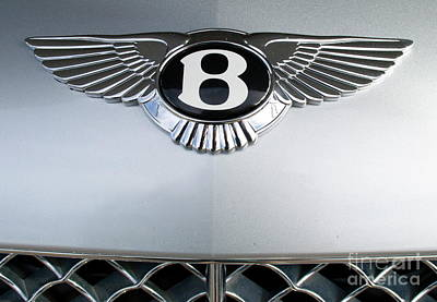 Photograph - Bentley Emblem by Pamela Walrath