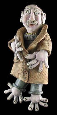 Ceramic Art - Bernie by Judy  Hensley