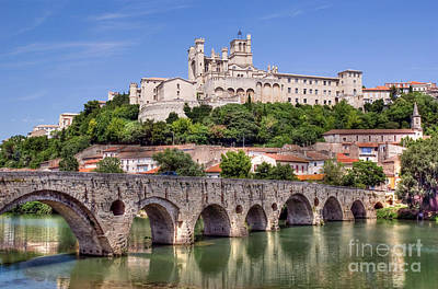 Photograph - Beziers Cathedral by Rod Jones