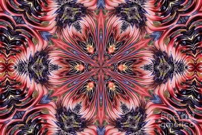 Digital Art - Bicolor Kaleidoscope by J McCombie