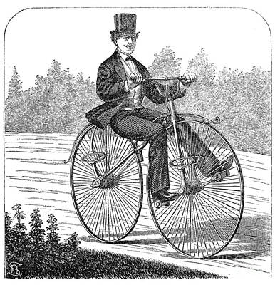Photograph - Bicycling, 1869 by Granger