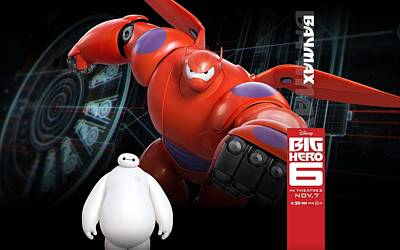 Sports Digital Art - Big Hero 6 by Super Lovely