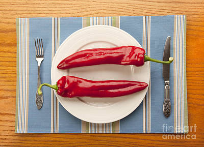 Photograph - 2 Big Red Peppers by Igor Kislev