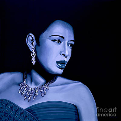 Jazz Mixed Media - Billie Holiday by Meijering Manupix