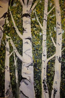 Merengue Painting - Birch Merengue by Rauno  Joks