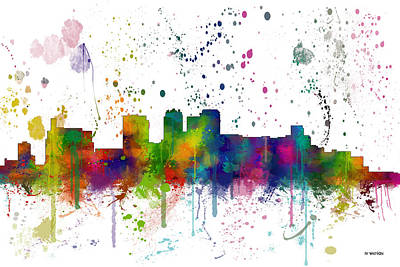 Birmingham Alabama Skyline Art Print