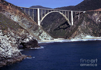 Photograph - Bixby Creek Aka Rainbow Bridge Bridge Big Sur Photo  by California Views Mr Pat Hathaway Archives